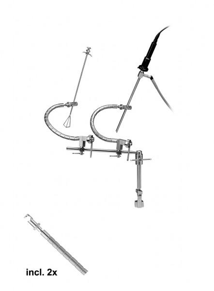 Ackermann-diflex twin flexarm system
