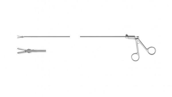 Gezahnte Greifzange, spülbar, starr, Ø 3mm