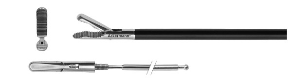 Grasper, wavelike serration, wide, Ø 5 mm