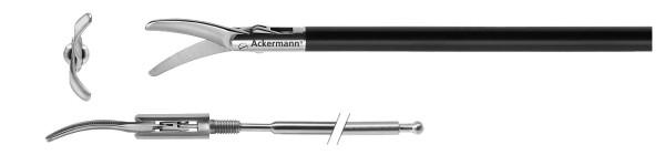 Metzenbaum, curved, serrated, Ø 5 mm