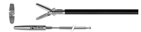 Greifzange, abgerundetes Maulteile, Ø 5 mm