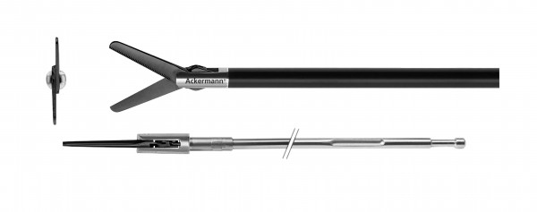 Metzenbaum, straight, serrated, ceramic coated, Ø 5,0mm, Xpress Lock
