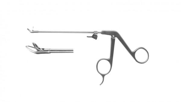 Blakesley thru bite, 45° upwards, handle on pressure w/o finger support