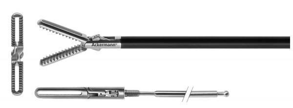 Gefensterter Greifer, quer gezahnt, Ø 5 mm