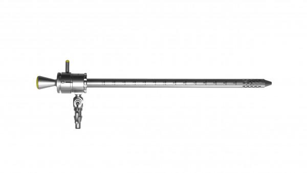 Nephroskopie OP-Schaft, inkl. Obturator, mit einem Hahn, drehbar