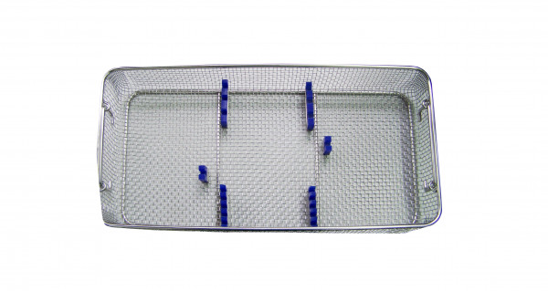 Container basket with rack