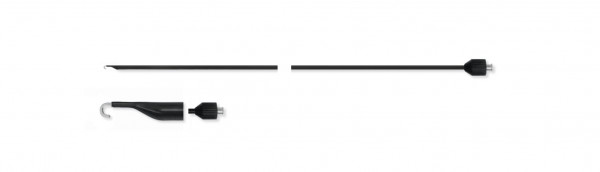 Adaptierbare monopolare Elektrode, J-Haken