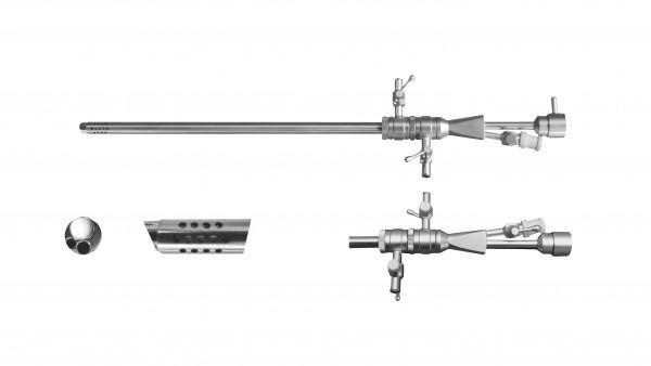 Dauerspül-OP Schaft, 2 Hähne, Ø 4mm, 7Fr. Arbeitskanäle