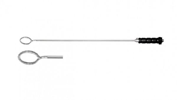 Snake retractor, circular, 40 mm WL, 340 mm