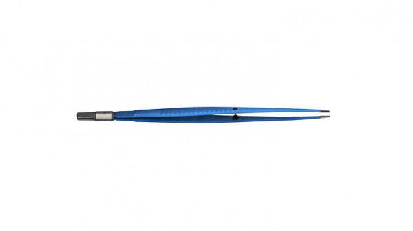 Bipolar forceps, 1 mm, straight, 195 mm long