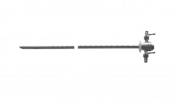 Zysto-Urethroskop-Schaft ohne Obturator, zwei Hähne