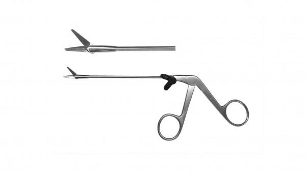 Nasal scissors, serrated, 13 cm WL, handle on pull