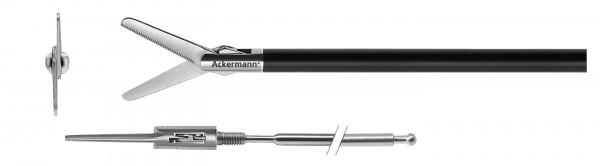 Metzenbaum, straight, serrated, Ø 5 mm