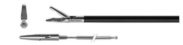 Grasper, wavelike serration, conical, Ø 5 mm