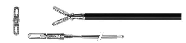 Gefensterte Greifzange, Mikro Maulteil, Ø 5 mm