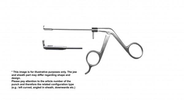 Antrum punch, backwards cutting, handle on pressure w/o finger support