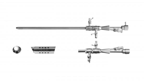 Continous flow operating sheath, 2 stopcocks, Ø 2,7mm, 5Fr. w. chan.